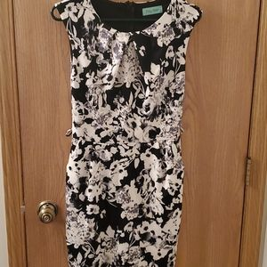 WORN ONCE Black/White Floral Dress